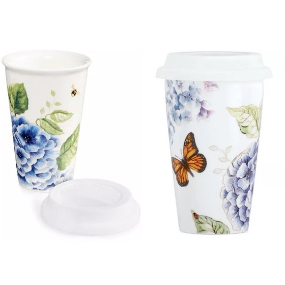 Butterfly Meadow Thermal Travel Mug Cup